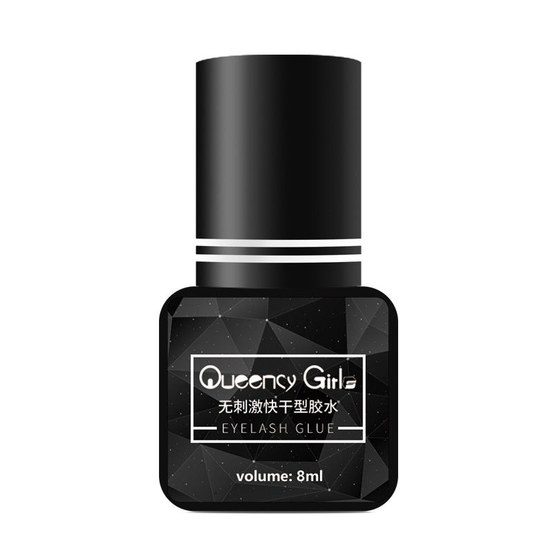 No Irritation Black Strong Semi Permanent Eyelash Glue Flash Drying 8ml Capacity